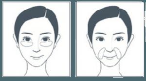Imagen referencial de uso de parches para ojeras