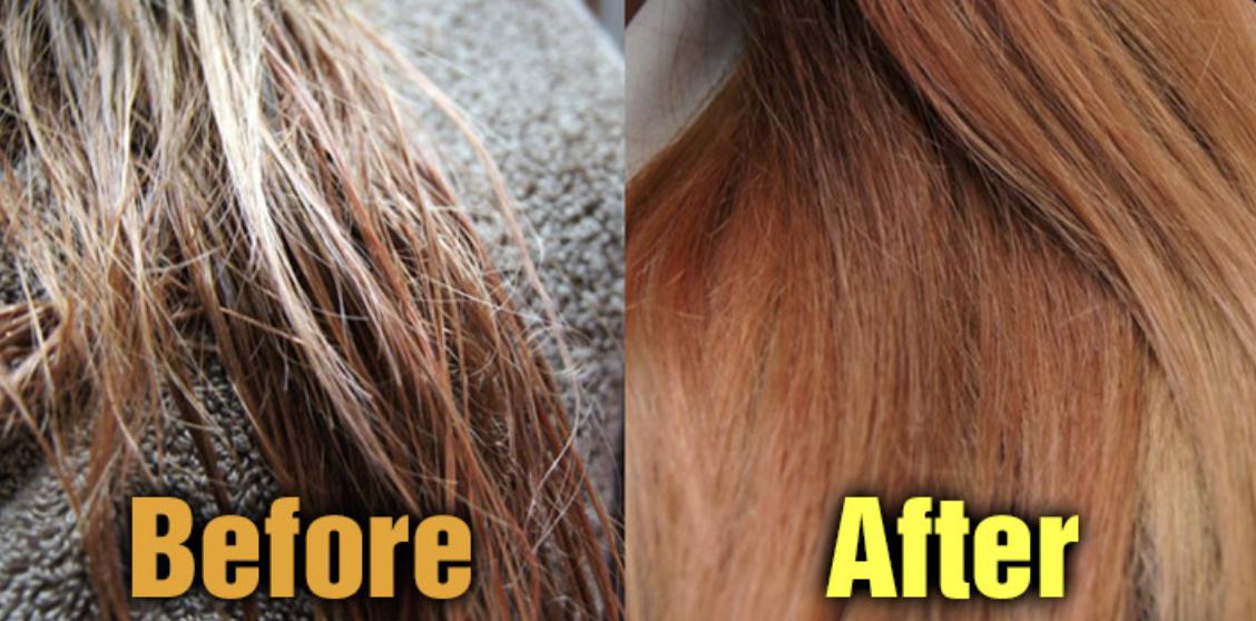 Foto antes y después de usar Chakan Factory 90% Milk Protein Treatment